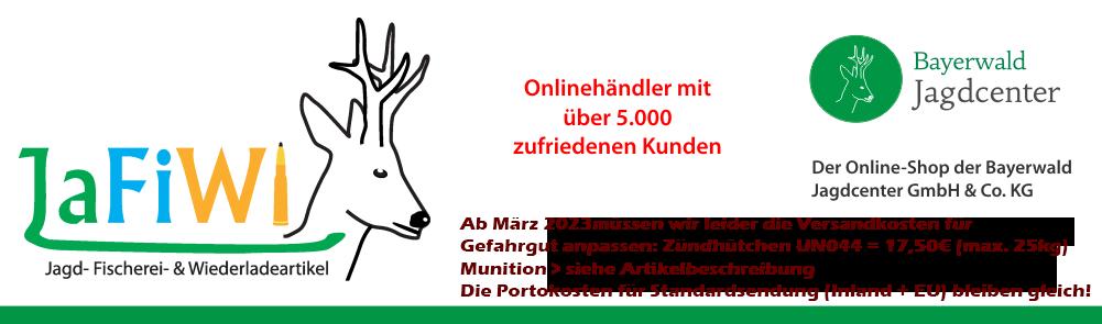 Banner JaFiWi - Jagd- Fischerei- und Wiederladeartikel Steiner